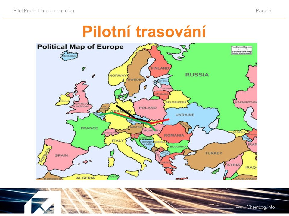 Pilot Project ImplementationPage 5 Pilotní trasování