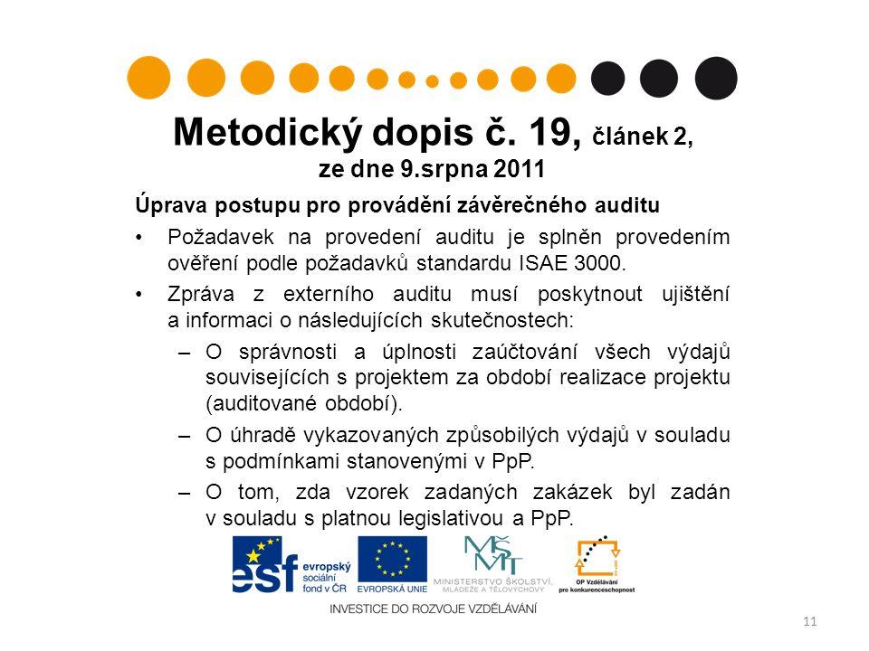 Metodický dopis č.