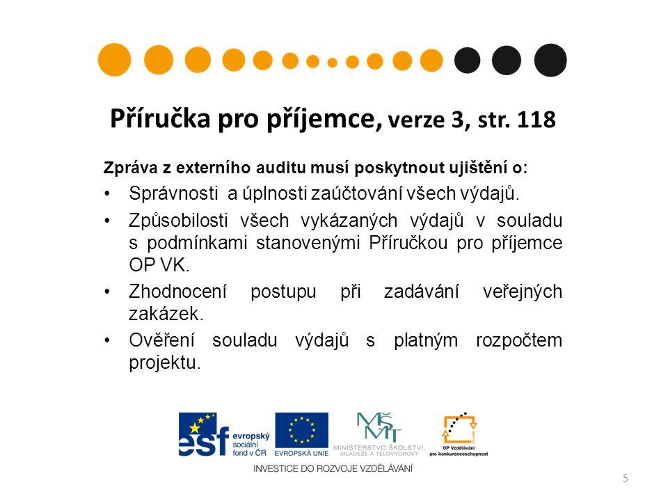 Příručka pro příjemce, verze 3, str.