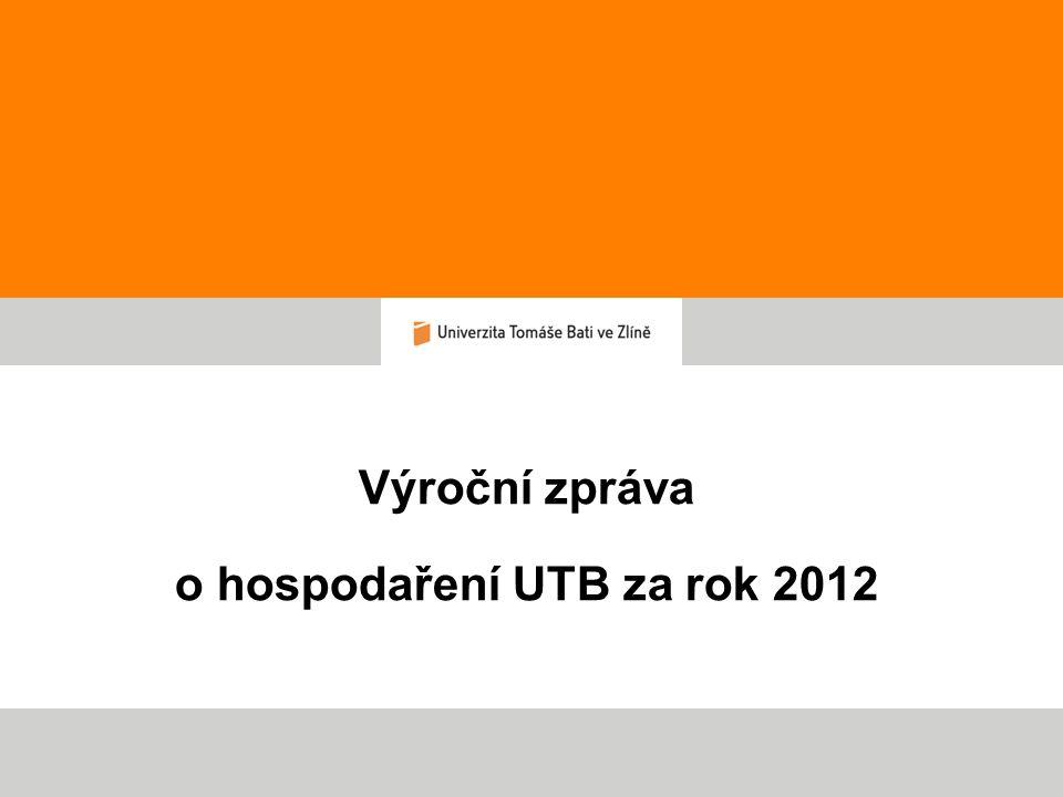 Výroční zpráva o hospodaření 2012 - zasedání AS 14.5.2013 Hospodářský výsledek UTB 2012 Hlavní činnost v tis.