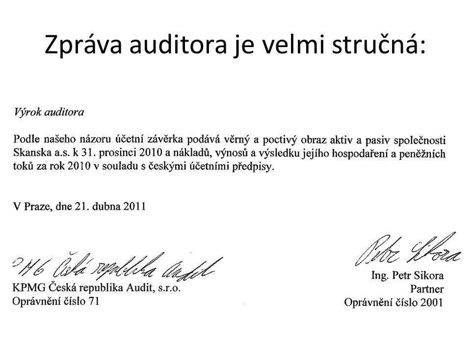 Sbírka listin OR Zpráva auditora je uložena (povinnost tak činit) ve Sbírce listin v Obchodním rejstříku.