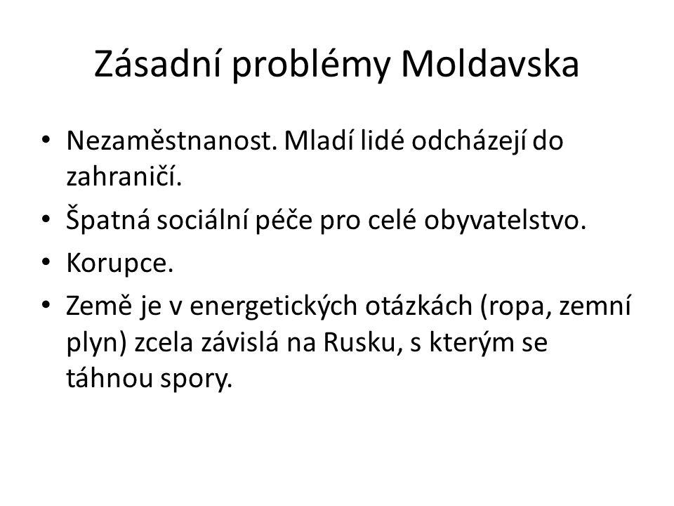 Zásadní problémy Moldavska Nezaměstnanost. Mladí lidé odcházejí do zahraničí.