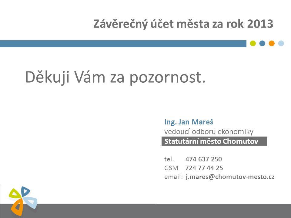 Statutární město Chomutov Děkuji Vám za pozornost.