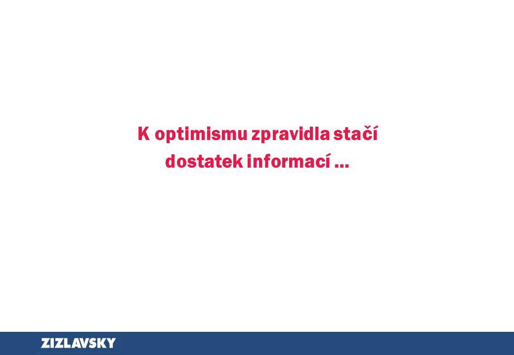 K optimismu zpravidla stačí dostatek informací …