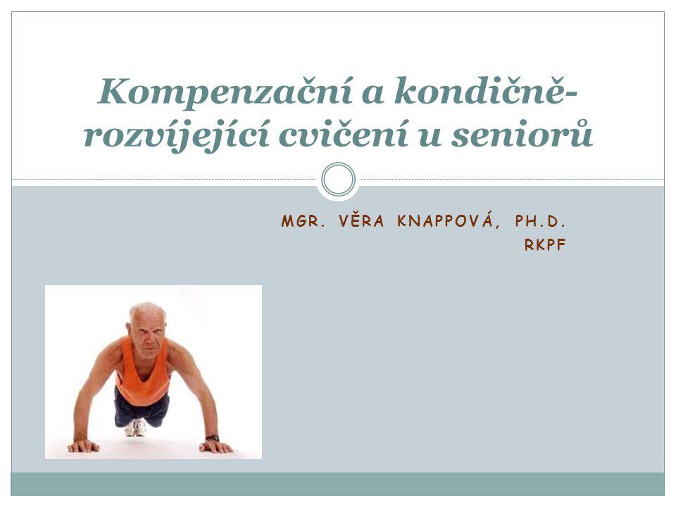 MGR. VĚRA KNAPPOVÁ, PH.D. RKPF Kompenzační a kondičně- rozvíjející cvičení u seniorů