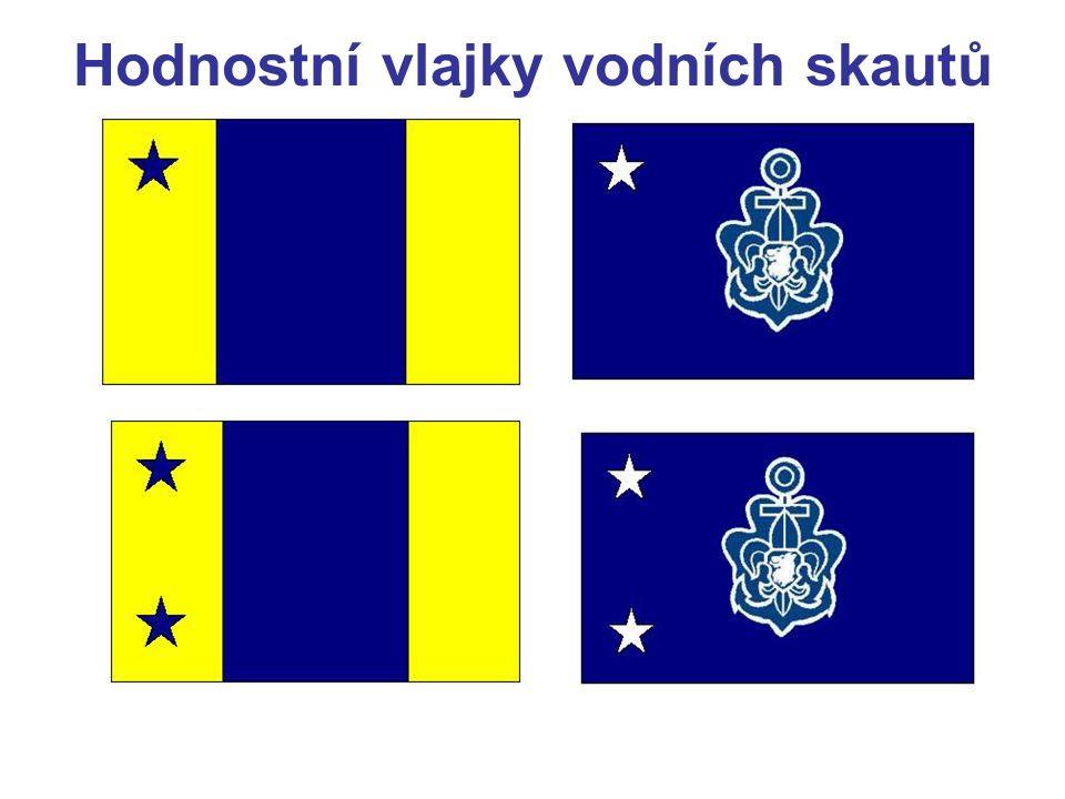 Hodnostní vlajky vodních skautů