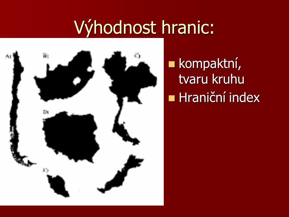 Hraniční index Vypočítejte hraniční index: Vypočítejte hraniční index: České republiky České republiky Francie (rozloha 547 tis.