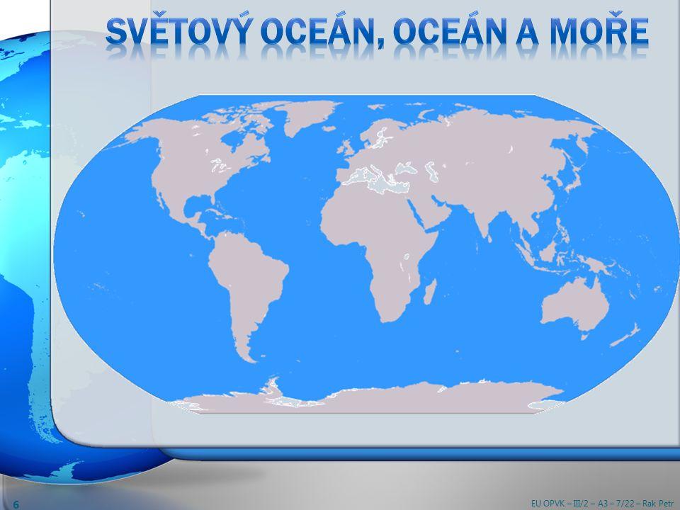 Jaká je voda v oceánu (v moři) – slaná, nebo sladká.