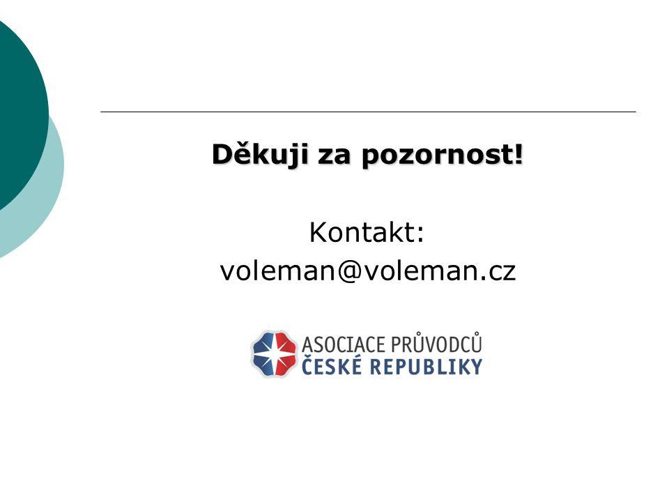 Děkuji za pozornost! Kontakt: voleman@voleman.cz