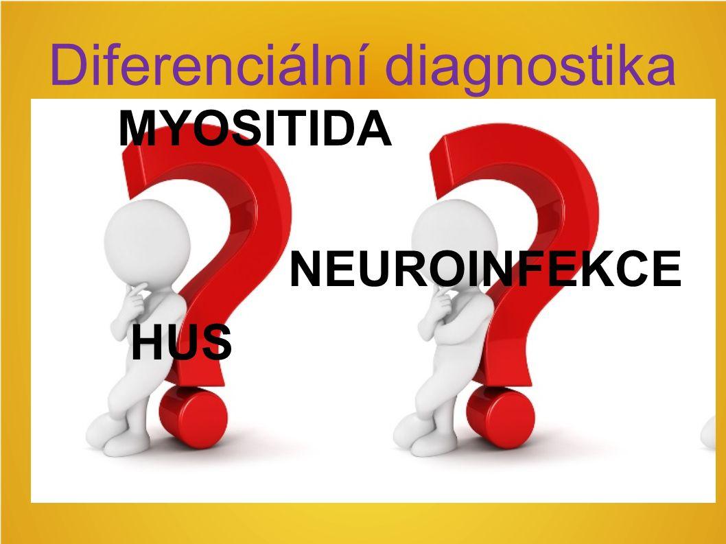Diferenciální diagnostika MYOSITIDA NEUROINFEKCE HUS