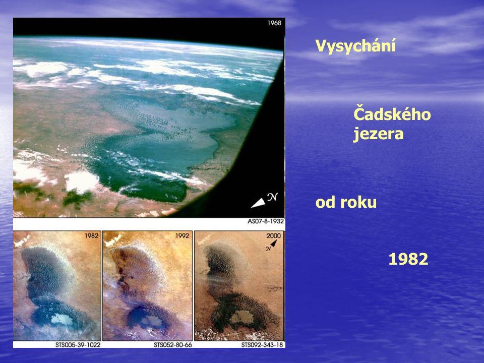 Vysychání Čadského jezera od roku 1982