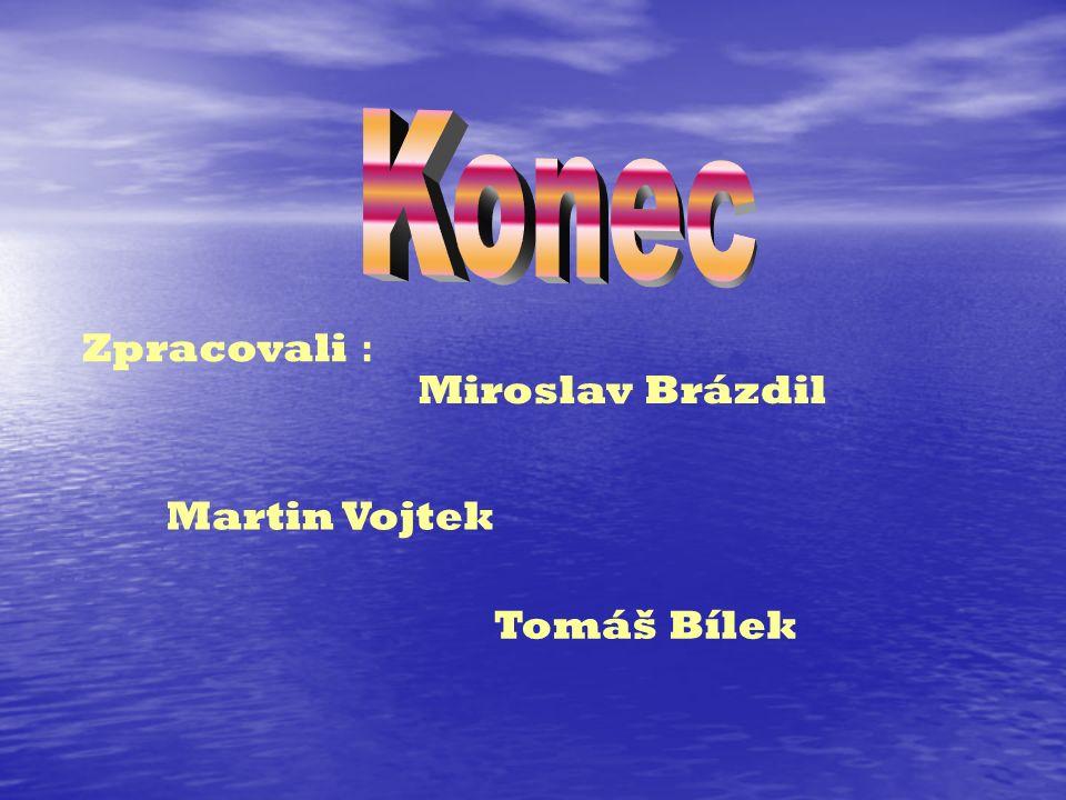 Zpracovali : Miroslav Brázdil Martin Vojtek Tomáš Bílek