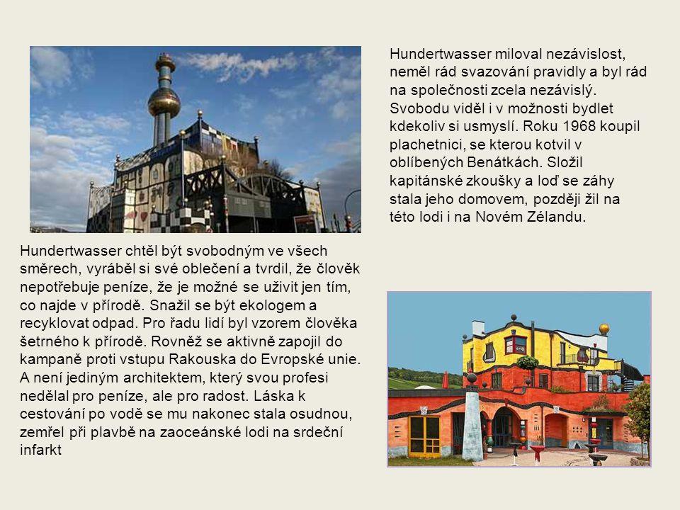 Posledním Hundertwasserovým projektem, který byl otevřen až pět let po jeho smrti, je komplex Zelená citadela v Magdeburku.