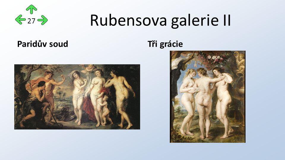 Rubensova galerie II Paridův soudTři grácie 27