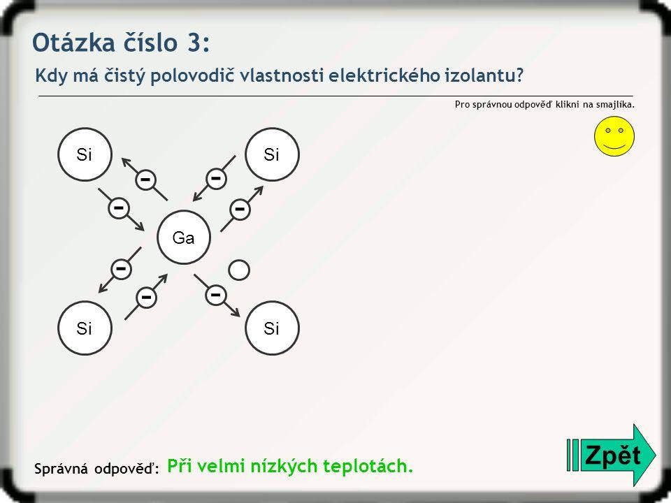 Otázka číslo 4: Do obrázku vyznač znaménkem + nebo – většinové nosiče elektrického náboje v oblasti polovodiče typu P a N.