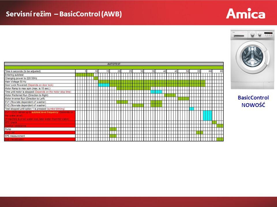 Servisní režim – BasicControl (AWB) BasicControl NOWOŚĆ
