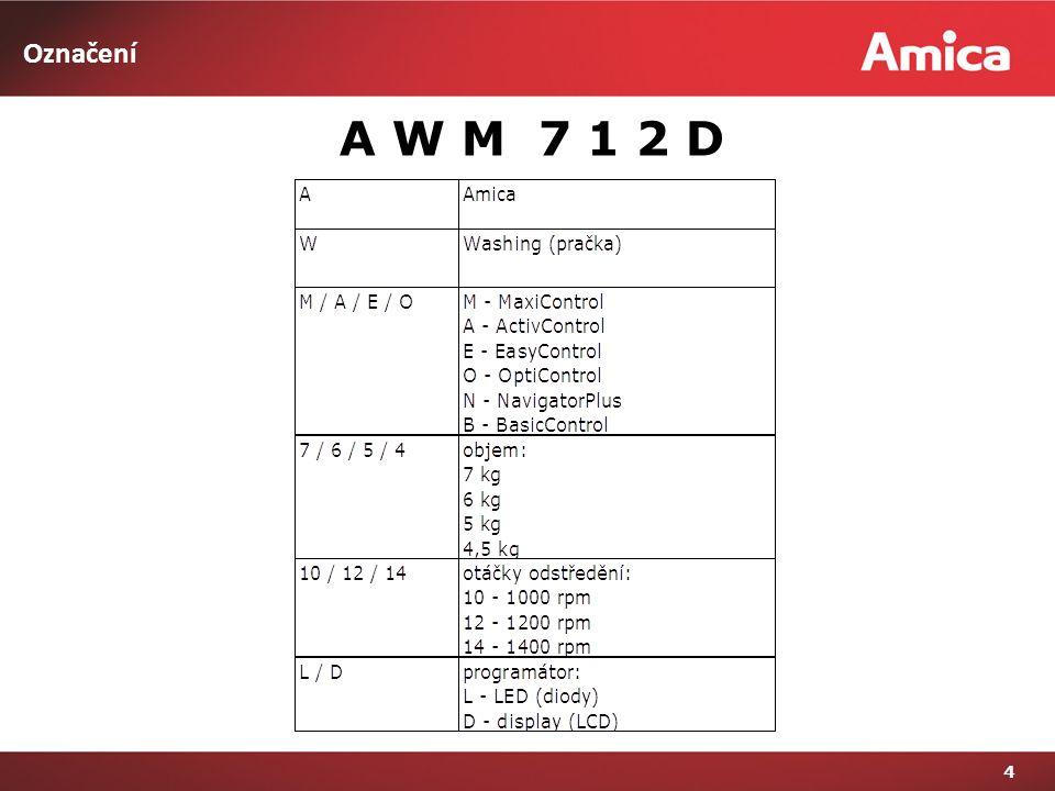 Označení 4 A W M 7 1 2 D