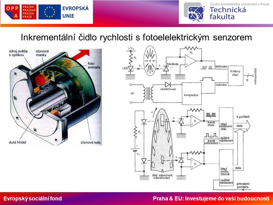 Evropský sociální fond Praha & EU: Investujeme do vaší budoucnosti Inkrementální čidlo rychlosti s fotoelelektrickým senzorem