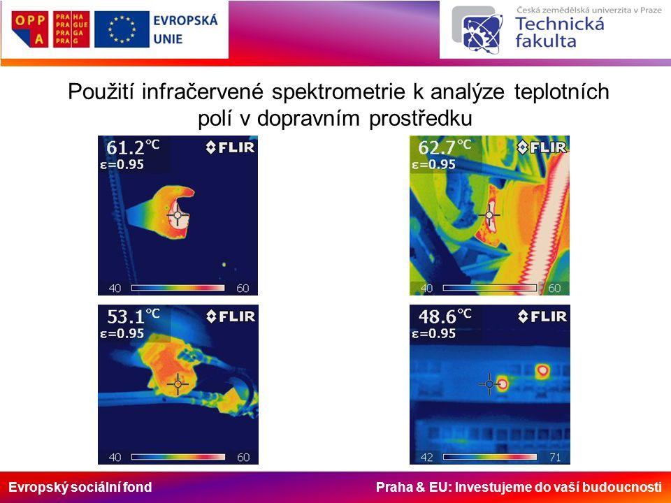Evropský sociální fond Praha & EU: Investujeme do vaší budoucnosti Použití infračervené spektrometrie k analýze teplotních polí v dopravním prostředku