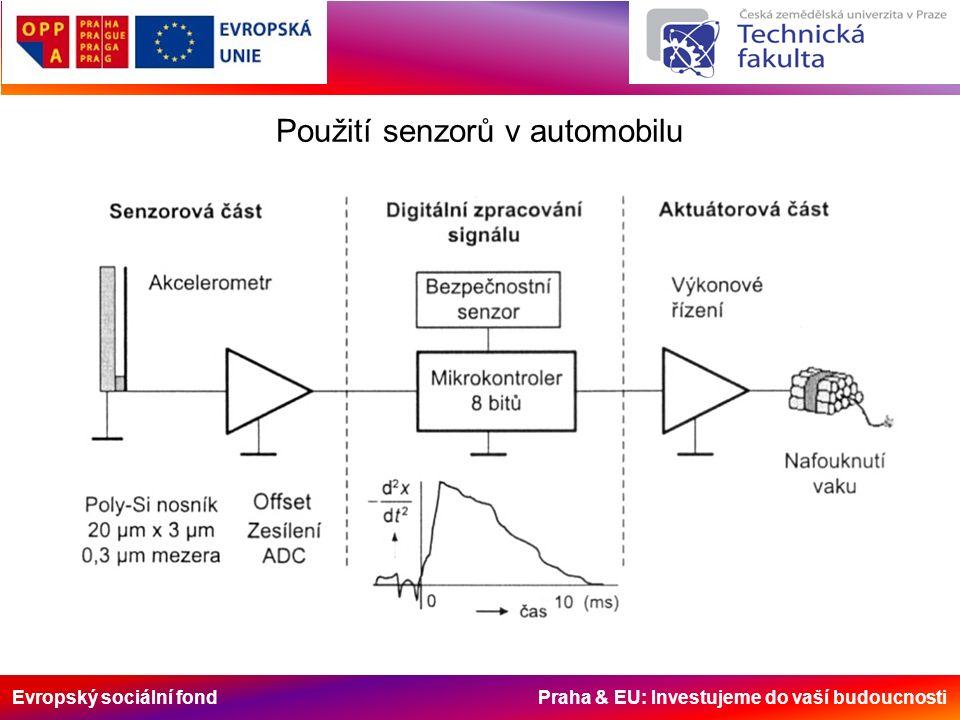 Evropský sociální fond Praha & EU: Investujeme do vaší budoucnosti Použití senzorů v automobilu
