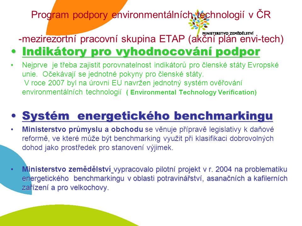 www.mze.cz www.ippc.cz www.env.cz www.mpo.cz www.cenia.cz www.cizp.cz http://eippcb.jrc.es/ Další informace o IPPC naleznete na: Děkuji za pozornost!