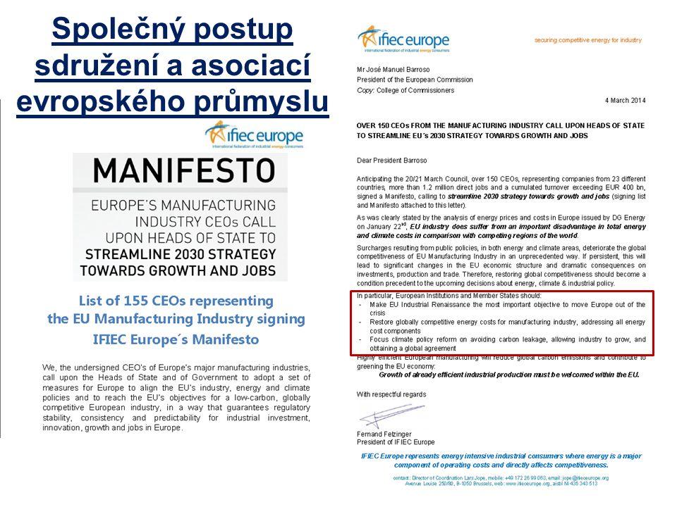 Společný postup sdružení a asociací evropského průmyslu