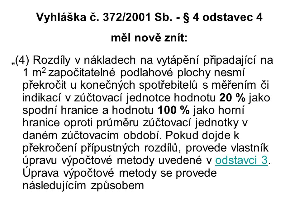 Vyhláška č.372/2001 Sb.