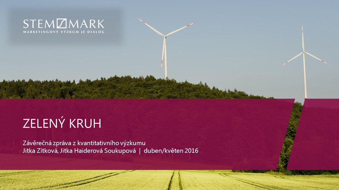 ZELENÝ KRUH Závěrečná zpráva z kvantitativního výzkumu Jitka Zítková, Jitka Haiderová Soukupová | duben/květen 2016