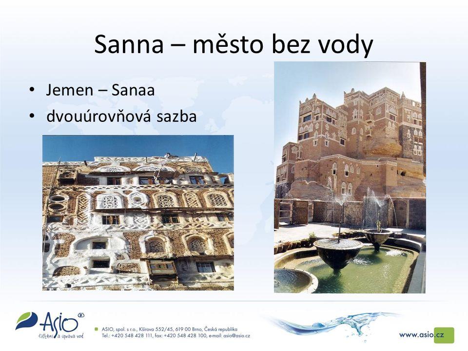 Sanna – město bez vody Jemen – Sanaa dvouúrovňová sazba
