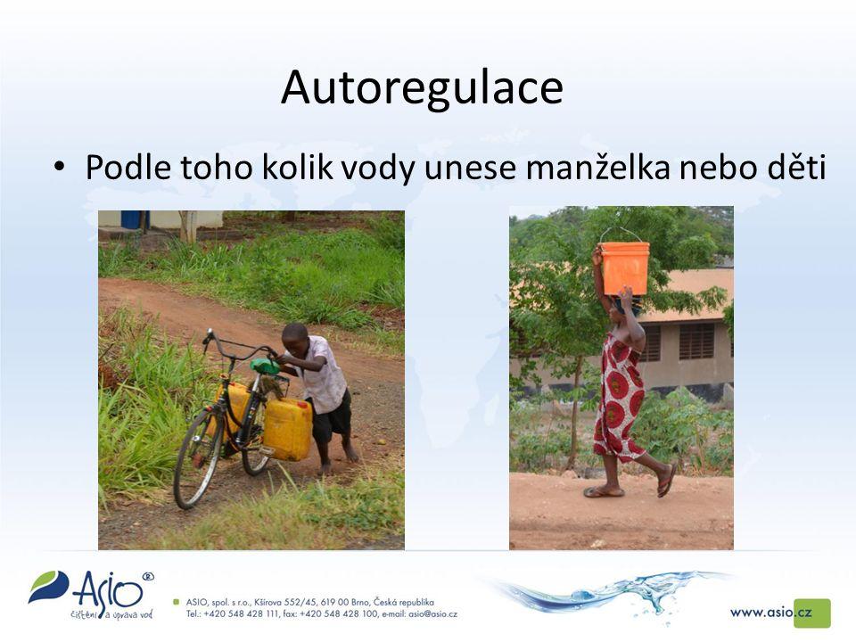 Autoregulace Podle toho kolik vody unese manželka nebo děti