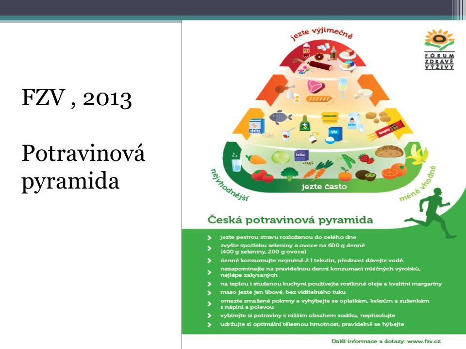 FZV, 2013 Potravinová pyramida