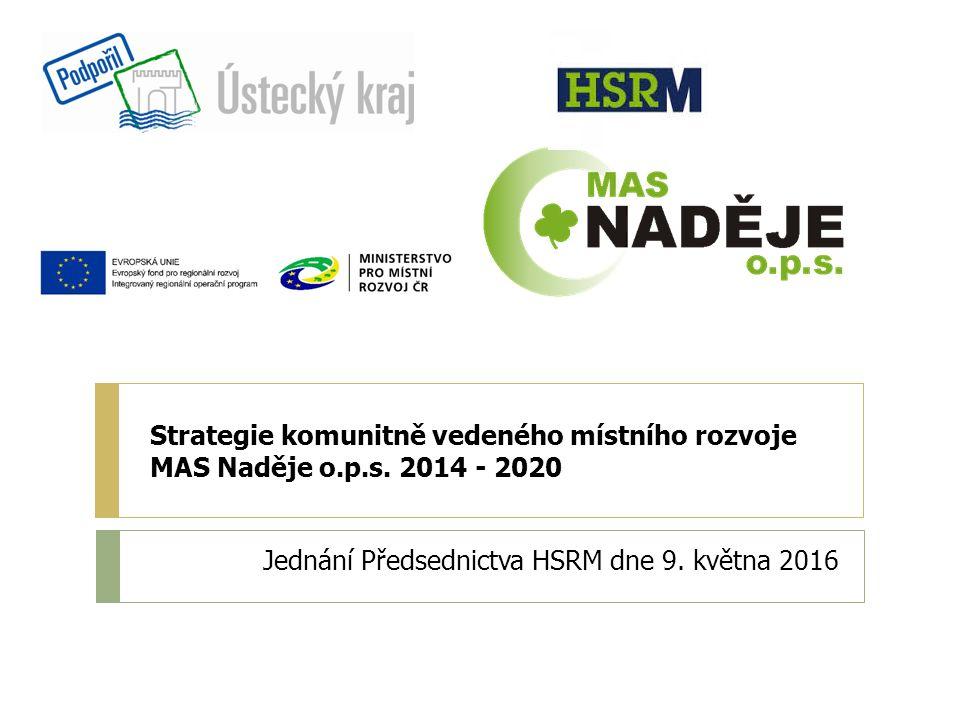 Strategie komunitně vedeného místního rozvoje MAS Naděje o.p.s.