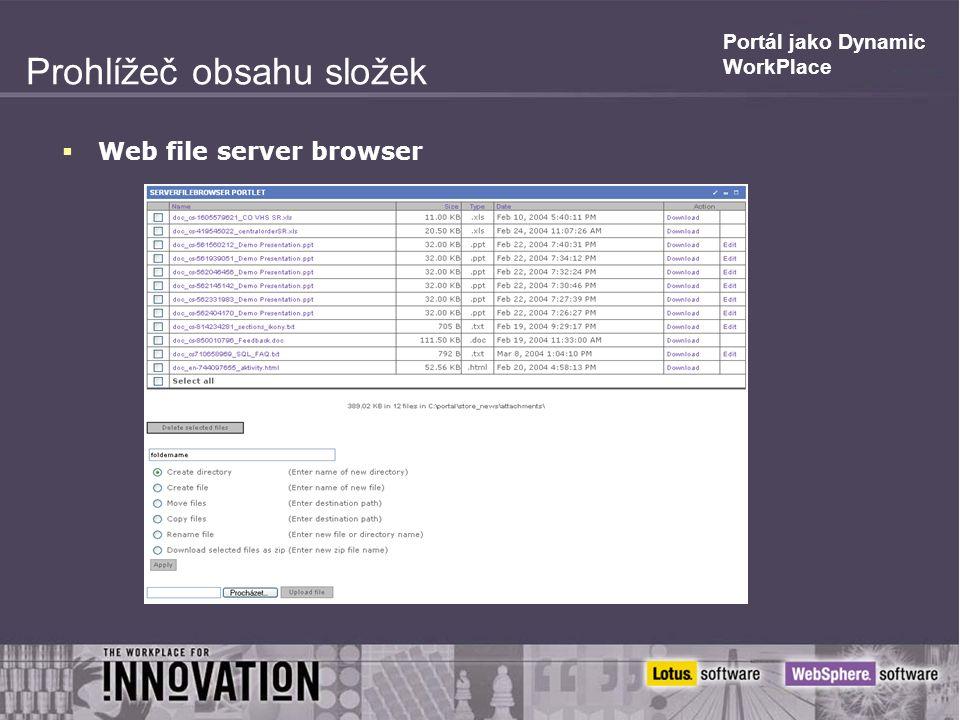 Prohlížeč obsahu složek  Web file server browser