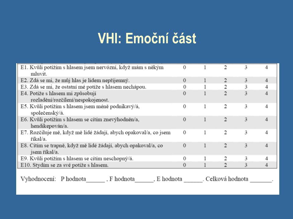 VHI: Emoční část