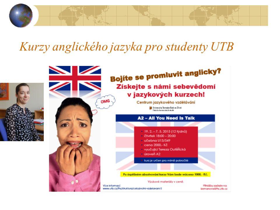 Kurzy anglického jazyka pro studenty UTB
