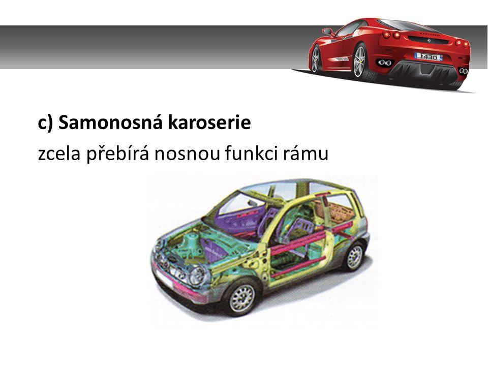 3.Druhy karoserií a) Hatschback – dvouprostorová tří nebo pěti dveřová karoserie pro 4 – 5 osob.