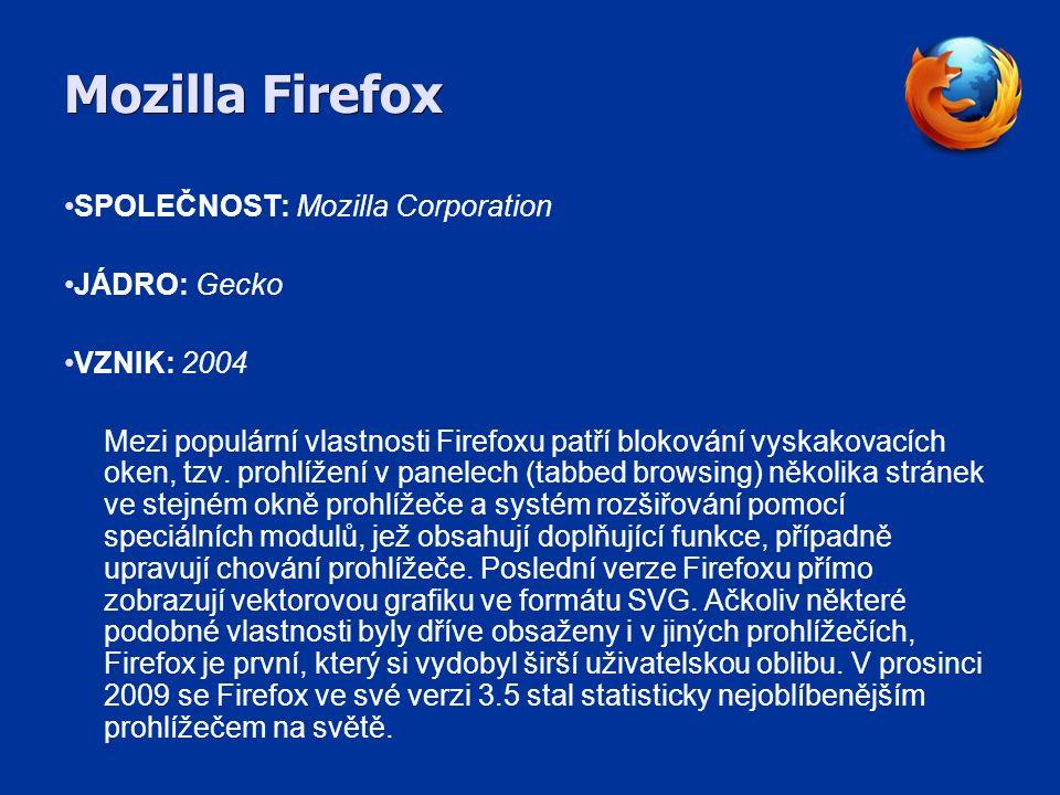Safari SPOLEČNOST: Apple JÁDRO: WebKit VZNIK: 2003 Safari je webový prohlížeč vyvíjený společností Apple Inc., který je součástí Mac OS X a iPhone OS a je možné ho používat i pod Windows XP, Vista a 7.