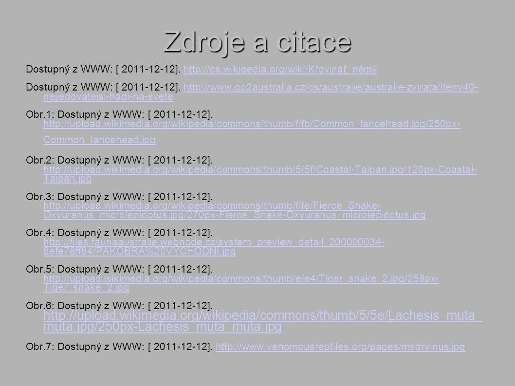 Zdroje a citace Dostupný z WWW: [ 2011-12-12].