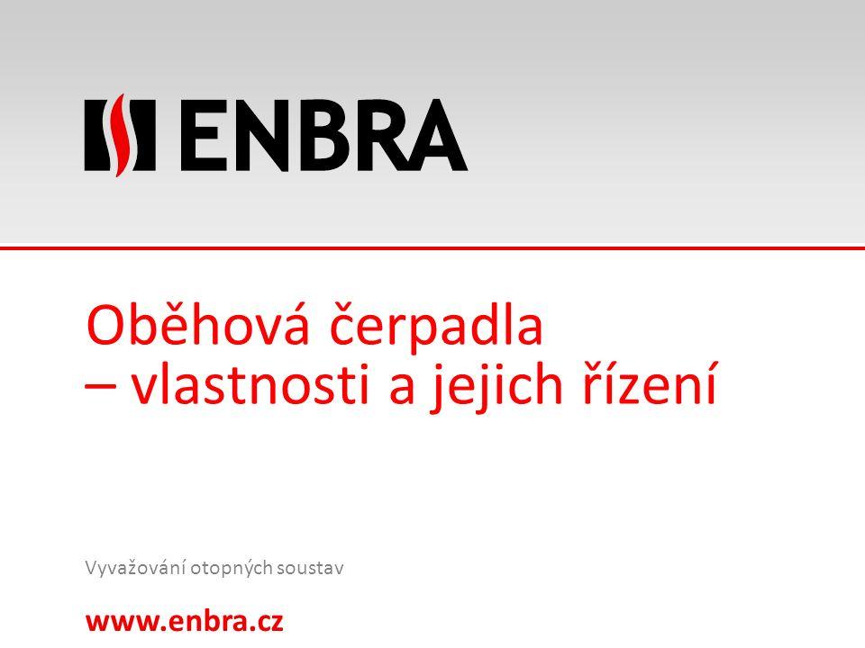 www.enbra.cz 24.9.2016 14/15 Oběhová čerpadla – vlastnosti a jejich řízení Vyvažování otopných soustav