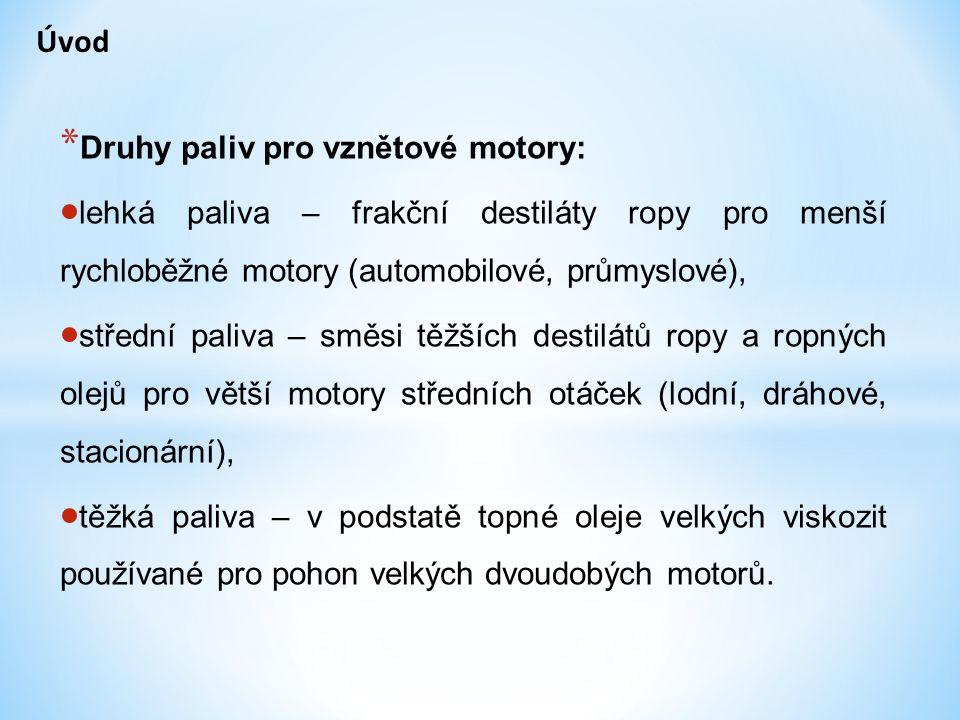* Druhy nafty vyráběné v ČR:  typ A s bodem tuhnutí -4°C označená NM-4, s filtrovatelností do 0 °C.