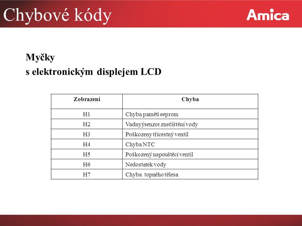 Diagnostika poruch Chyba E1 Případ 1 Hladinový spínač: Pokud je napouštěcí ventil otevřený po dobu 4 minut a během této doby nesepl hladinový spínač, zobrazí se chyba E1