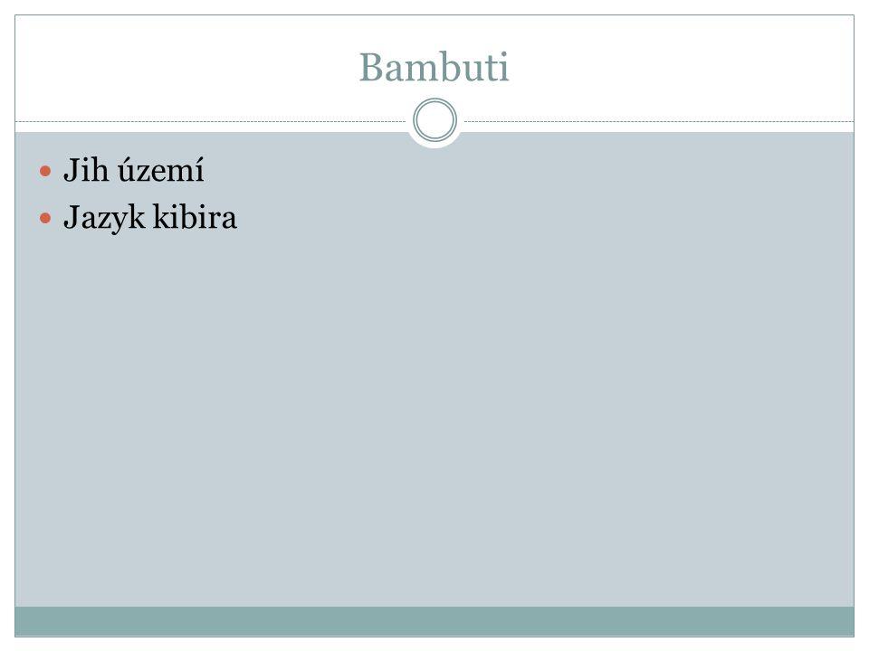 Bambuti Jih území Jazyk kibira
