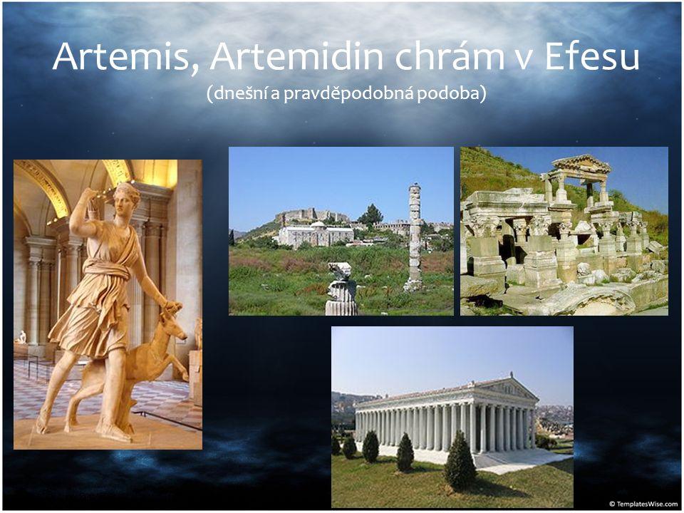 Artemis, Artemidin chrám v Efesu (dnešní a pravděpodobná podoba)