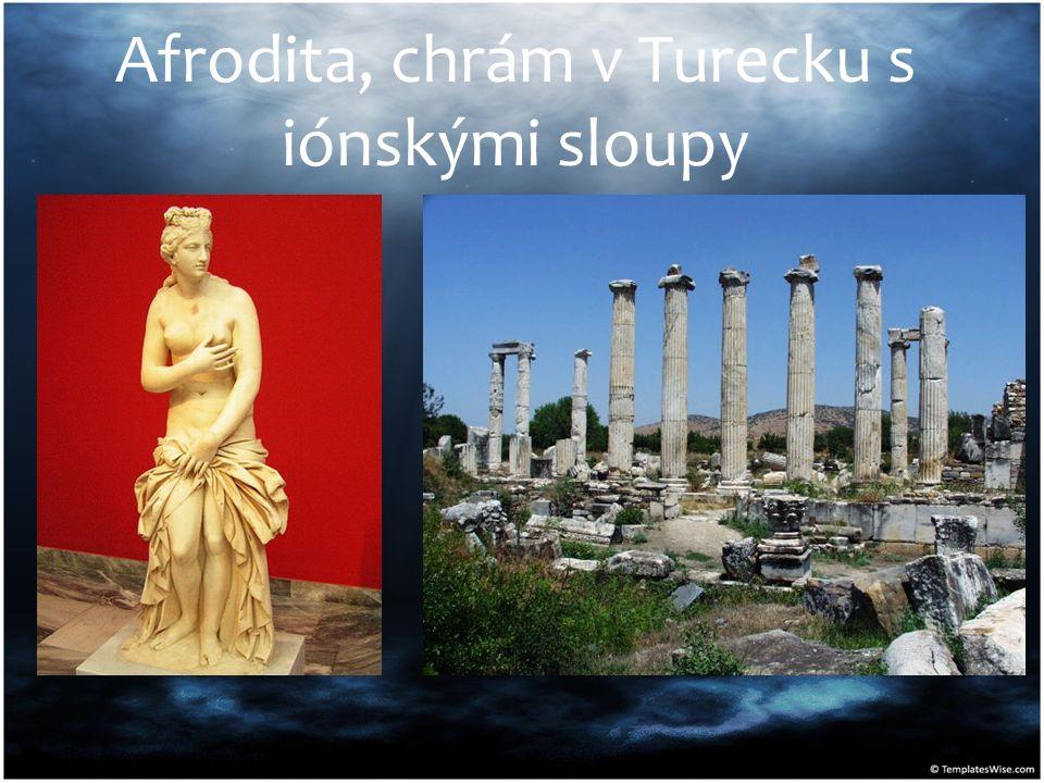 Afrodita, chrám v Turecku s iónskými sloupy