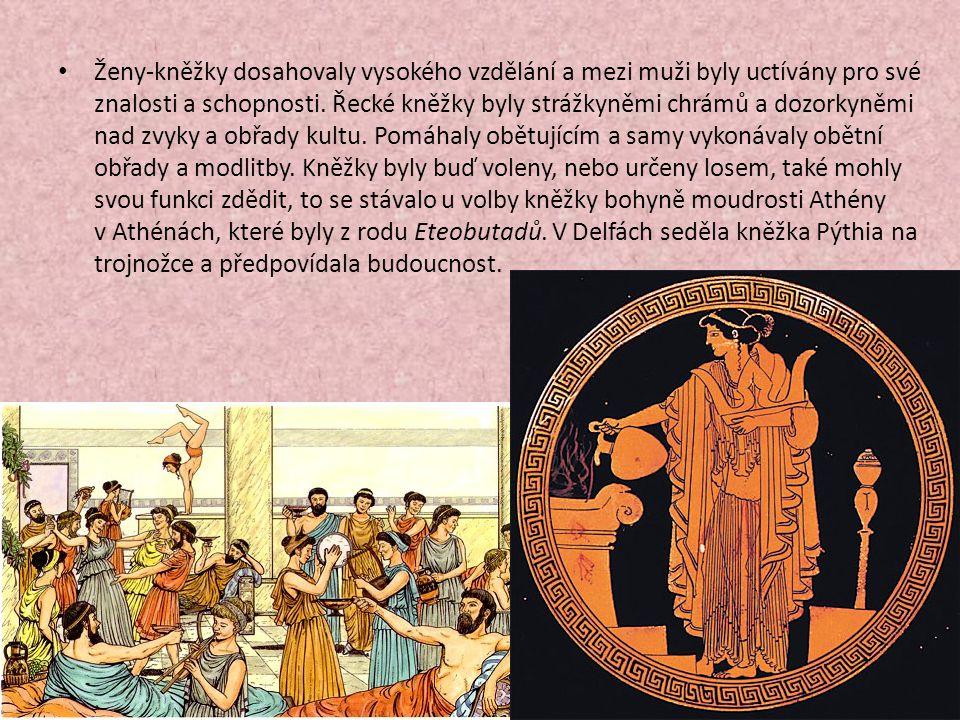 Ženy-kněžky dosahovaly vysokého vzdělání a mezi muži byly uctívány pro své znalosti a schopnosti.