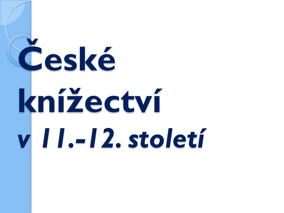 Panovníci 1) Břetislav I.- stařešinský řád, získal zpět Moravu 2) Vratislav II.