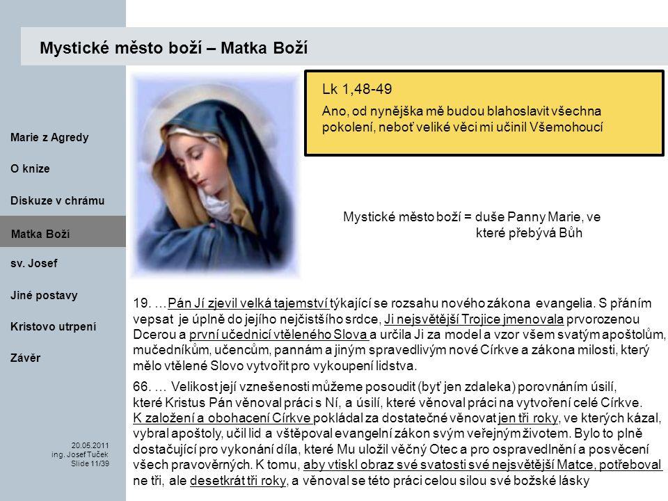Matka Boží O knize 20.05.2011 ing.Josef Tuček Slide 11/39 Marie z Agredy sv.