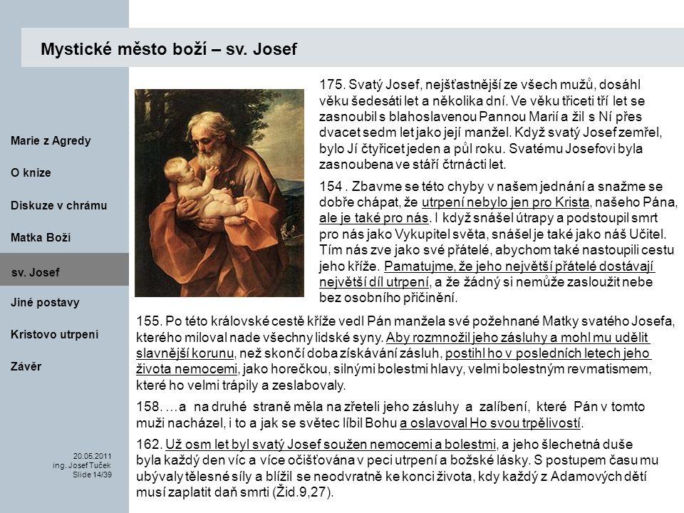 Matka Boží O knize 20.05.2011 ing.Josef Tuček Slide 14/39 Marie z Agredy sv.
