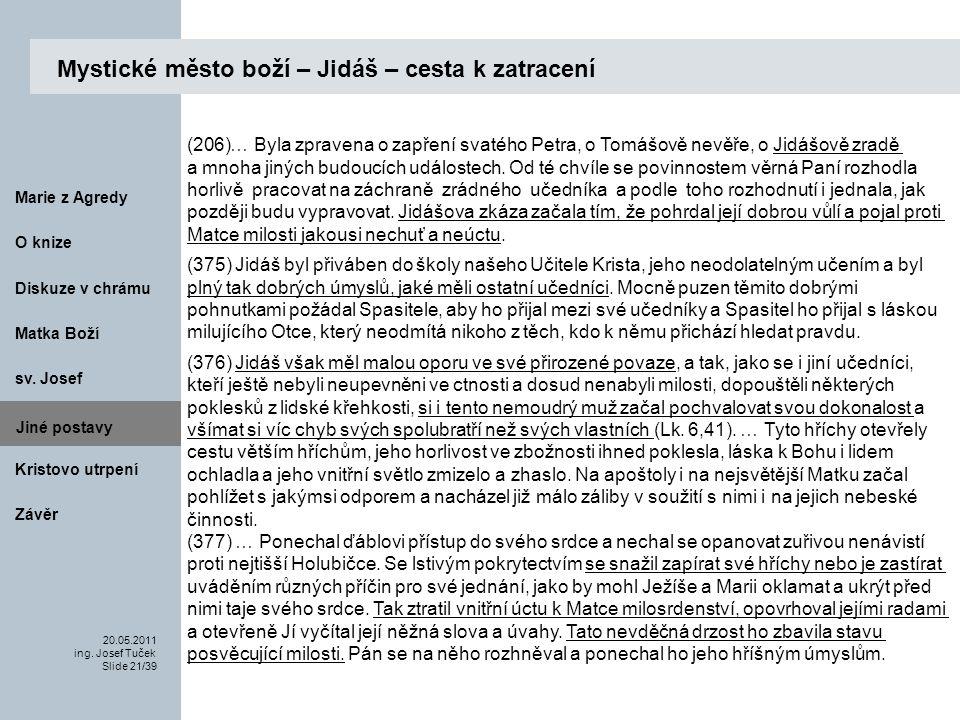 Matka Boží O knize 20.05.2011 ing.Josef Tuček Slide 21/39 Marie z Agredy sv.