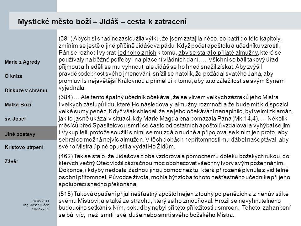 Matka Boží O knize 20.05.2011 ing.Josef Tuček Slide 22/39 Marie z Agredy sv.